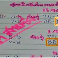 หวยนินจา สูตร2ตัวล่างระยะสั้น งวด 16/11/60 (ผลงานเข้า 2งวดซ้อน)