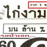 หวยซอง ไก่งาม บนล้าน% ชุดพิเศษจัดเต็ม งวดวันที่ 1/12/60