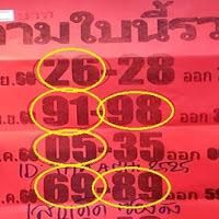 หวยซอง ตามใบนี้รวย ชุด 2 ตัว บน-ล่าง งวดวันที่ 30/12/60 (ผลงานเข้า 4 งวดติด )