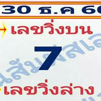 มาเเล้วเลขเด็ด วิ่งบน วิ่งล่าง คนสัมผัสเลข งวดวันที่ 30/12/60