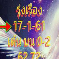 หวยรุ่งเรือง 3 ตัว 2 ตัวบน-ล่าง งวดวันที่ 17/01/61