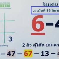 วิเคราะห์หวยไทยรัฐ จับเลขเด่น 2-3 ตัว บน-ล่าง งวดวันที่ 16/03/61