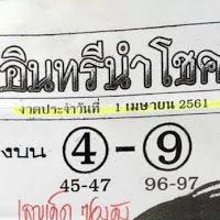 เลขเด็ดซองดัง หวยซอง อินทรีนำโชค งวดวันที่ 1/4/61