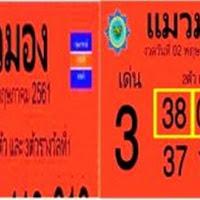 เลขเด็ดสองตัวสามตัวรางวัลที่1 หวยซองเเมวมอง  งวดวันที่ 16/05/61