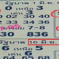 หวยเด็ด หวยซองรัฐบาล บน-ล่าง งวดวันที่ 16/06/61