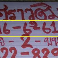 หวยดังมาเเล้ว หวยทำมือ ศราวุฒิ บน-ล่าง งวดวันที่ 16/06/61
