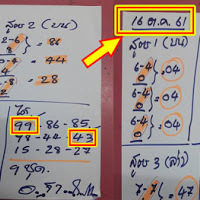 เลขเด็ดตามสูตร อ.ฐาพารวย 2ตัวบน-ล่าง งวดวันที่ 16/10/61 ผลงานดีเข้าเต็มๆ