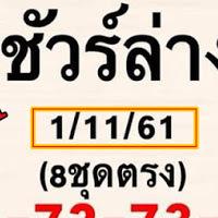 หวยดังหวยเด็ด ชัวร์ล่าง 8 ชุดตรงๆ งวดวันที่ 1/11/61