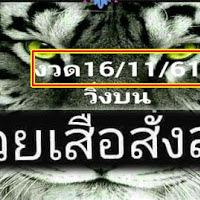 ต้องตามแม่นมาก! หวยเสือสั่งลุย แนวทางเลขวิ่งบน งวดวันที่ 16/11/61