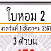 เลขเด็ดสองสามตัว  หวยเด็ด ใบหอม 2 งวดวันที่ 1/12/61