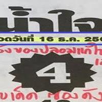 หวยเด็ดหวยน้ำใจ สองตัวล่าง งวดวันที่ 16/12/61