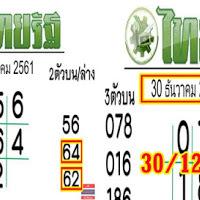 ไม่ต้องรอมาเเล้ว  เลขเด็ด หวยไทยรัฐ งวดวันที่ 30/12/61