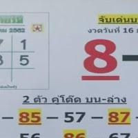 วิเคราะห์หวยไทยรัฐ จับเลข 2 ตัว 3 ตัว งวดวันที่ 16/3/62