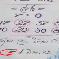 กลับมาเเล้ว หวยทำมือ อ.โกย บ้านไร่ งวดวันที่ 1/6/62