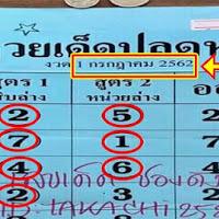 หวยเด็ดปลดหนี้ สูตร1 สิบล่าง สูตร2 หน่วยล่าง งวดวันที่ 1/07/62