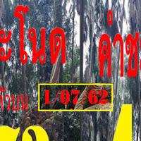 หวยคำชะโนดชุด สามตัวบน สองตัวล่าง งวดวันที่ 1/7/62