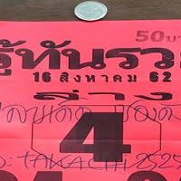 เลขเด็ดซองดัง หวยรู้ทันรวย งวดวันที่ 16/8/62